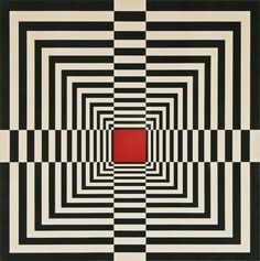 An example of Op art is this piece. Op art was an art movement in the that used mainly black and white motifs, usually geometrical, to create an illusion of movement. Op Art, Illusion Kunst, Illusion Art, Optical Illusion Quilts, Optical Illusions, Quilt Modernen, Arte Pop, Geometric Art, Art Lessons