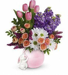 Teleflora's Send a Hug Bunny Love Bouquet  http://www.spatesflorist.com/newport-flowers/telefloras-send-a-hug-bunny-love-bouquet-555384p.asp