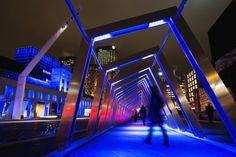 """""""Luminothérapie"""" exhibition, Quartier des Spectacles, Montréal."""