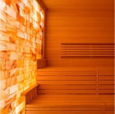 Scandia offers the finest Himalayan Salt Wall Panel System for sale. Himalayan Salt Wall Panels are available for installation at any new or existing sauna. Himalayan Salt Room, Himalayan Salt Benefits, Salt Room Therapy, Light Therapy, Spa Therapy, Japanese Spa, Salt Cave, Sauna Design, Sauna Room