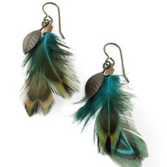 DIY: Feather Earrings Tutorial   Make them in 6 steps. Love these!!   Vintaj.com