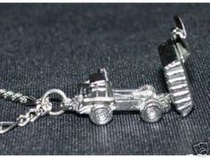DUMP TRUCK MOVABLE BED Silver Charm pendant Jewelry Sterling Silver 925 Jewelry