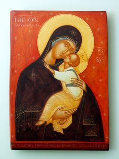 Theotokos by Gabriel Toma Chituc Religious Icons, Religious Art, Russian Orthodox, Byzantine Icons, Madonna And Child, Blessed Virgin Mary, Orthodox Icons, Blessed Mother, Sacred Art