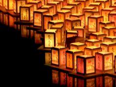 多摩川 灯篭流し