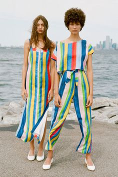 Mara Hoffman - Rainbow Stripe Tie Front Pant | BONA DRAG
