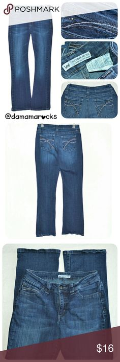 "🆕Listing! Slender Secret ""Lower on the Waist"" 10M Women's Lee Slender Secret ""Lower on the Waist"" Bootcut Jeans  Cute pockets!  Missing some embellishments as shown in picture #4  Small stain on right knee as shown in picture #5 with a close up Size 10 Medium   Measurements are approximate and were taken with garment laying flat   Waist: 13""  Hips: 18""  Inseam: 29""  Outseam: 39""  Front Rise: 9""  Back Rise: 14""  Leg Opening: 8 3/4""  *Item is used   Thank you for shopping my closet!     (160)…"