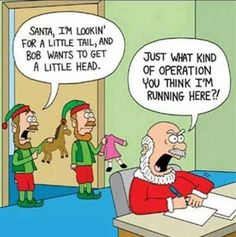 New holiday season quotes funny elves ideas Funny Christmas Cartoons, Funny Cartoons, Funny Comics, Funny Jokes, Funny Xmas, Xmas Jokes, Funny Holidays, Cartoon Humor, Funny Texts