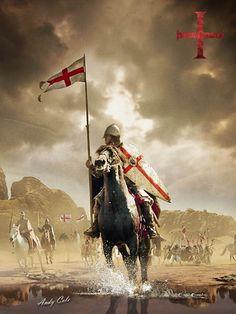 Knight On Horse, Knight Art, Medieval Knight, Medieval Fantasy, Templar Knight Tattoo, Knights Templar History, English Knights, Crusader Knight, Christian Warrior