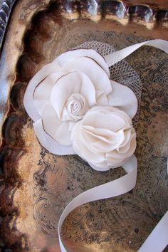 Fabric Flower Wrist Corsage Weddings