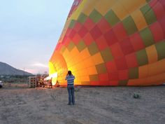 Sky Waltz hot air balloon being inflated just outside Jaipur, India Jaipur India, G Adventures, Hot Air Balloon, National Geographic, The Outsiders, Louvre, Journey, Sky, Photo And Video