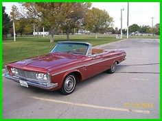 eBay: 1963 Plymouth Fury Restored Classic Show Car 1963 Plymouth Sports Fury 8 Cylinder 361cc Wedgehead Push Button… #classiccars #cars