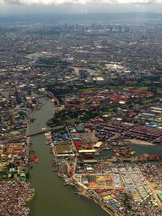 City of Manila & Pasig River, Philippines. We lived on the Pasig River when we lived in Rockwell. Philippines People, Manila Philippines, Philippines Travel, Davao, Cebu, Makati, Iloilo, Places To Travel, Borneo