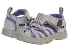 Keen Kids Whisper (Infant/Toddler) Neutral Gray/Ultra Violet - Zappos.com Free Shipping BOTH Ways