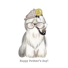 To all cool dads out there... Happy Father's Day!! #drawing#draw#art_we_inspire#arts_help#worldofartists#handpainted#watercolor#watercolorist#winsorandnewton#watercolour#illustration#waterblog#watercolorillustration#illustrationartists#bigbearandbird#cute#dog#art_spotlight#fathersday#happyfathersday