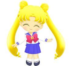 Sailor Moon Drops - Usagi Tsukino (School Uniform - Crystal Star & Cosmic Heart Brooches) Transparent PNGs II The Crystal Star and Cosmic Heart Usagis are not playable; Sailor Moon Drops, Sailor Scouts, School Uniform, I Laughed, Chibi, Disney Characters, Fictional Characters, Childhood, Disney Princess