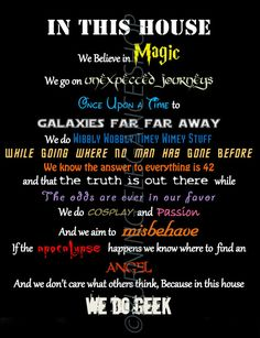 In This House We Do Geek Signs And Wall Decals | Glitter 'N' Spice