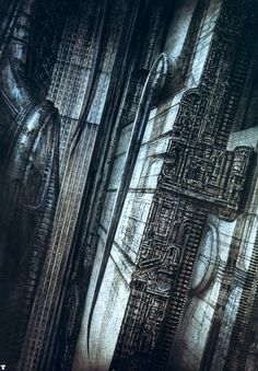 CITY VIII......MIT SEITENSTACHEL........BY H.R. GIGER..............