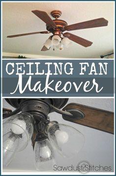 Fan Makeover - An Easy DIY Ceiling Fan Makeover Tutorial Fan Makeover Makeover