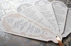 7 Pretty Perfect Wedding Program Ideas