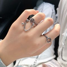#smileyfacering #aestheticrings #aestheticjewelry #grungejewelry #grungerings #ringswithchain Aesthetic Fashion, Aesthetic Clothes, Aesthetic Outfit, Aesthetic Rings, Signet Ring, Product Description, Wedding Rings, Engagement Rings, Chain