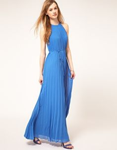 $356.31, Ted Baker Pleat Maxi Dress...too much blue? or perfect against summer white?