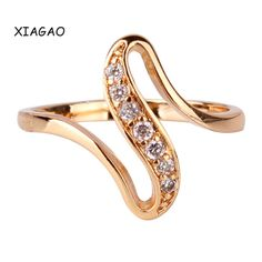 XIAGAO Fashion Snake Curve Shaped Ring 18k Gold Plated Ring White Crystal CZ Zirconia Engagement Ring for Women Jewelry R103♦️ SMS - F A S H I O N  http://www.sms.hr/products/xiagao-fashion-snake-curve-shaped-ring-18k-gold-plated-ring-white-crystal-cz-zirconia-engagement-ring-for-women-jewelry-r103/ US $1.52