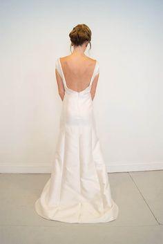 Open back, silk wedding dress -  Calhoun | Emily Kotarski Bridal