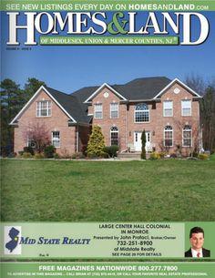 Midstate Realty , located in Monroe Township in Middlesex County, specializes in Commercial buildings, New Construction and single fami. Center Hall Colonial, East Brunswick, Perth Amboy, Mercer County, Free Magazines, Find Homes For Sale, Getting To Know, New Construction, Real Estate