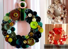 Wreaths made of buttons - I Like to Decorate