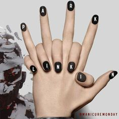 Linkin Park Nails Art | 1000+ images about UÑAS on Pinterest | Nail art, Dibujo and Base coat
