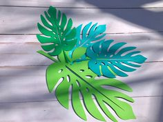 Paper leaves green leaves leaves cut outs Pack of 5 leaves Paper Flower Backdrop, Paper Flowers Diy, Leaf Cutout, Candy Trees, Tropical Party Decorations, Leaf Stencil, Green Garland, Paper Leaves, Leaf Template