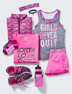 Halloween outfits for teens casual Girls Outfits -tween Outfits For Girls Justice Gymnastics Outfits, Soccer Outfits, Sporty Outfits, Athletic Outfits, Dance Outfits, Kids Outfits, Soccer Clothes, Preteen Fashion, Kids Fashion