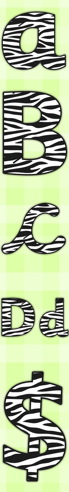 Twinkl Resources >> Zebra Pattern Display Lettering >> Printable resources for Primary, EYFS, KS1 and SEN. Thousands of classroom displays and teaching aids! Topics, Safari, Animal, Patterns, Display, Lettering