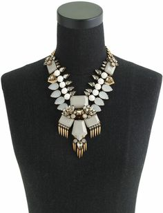 J.crew Fringed Jewel Statement Necklace