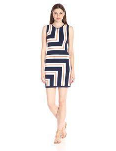 Trina Trina Turk Women's Anari Striped Sweater Dress