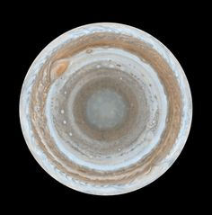 This is what the south pole of Jupiter looks like. | 17 Space Pictures That Will Actually Make You Think