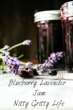 Blueberry lavender jam combines some of the best flavors and scents of summer, to be preserved and revisited throughout the year. Jam Recipes, Canning Recipes, Recipies, Lavender Jam, Lavender Recipes, Homemade Jelly, Fruit Flowers, Blueberry Jam, Lemon Curd