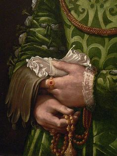 Portrait of a Florentine Noblewoman Italian 1540 Detail 2 by mharrsch, via Flickr