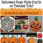 5 Halloween Paper Plate Crafts on Tuesday Tots! #linky