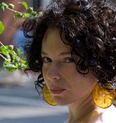 Real Orange Earrings - Fruit Jewelry