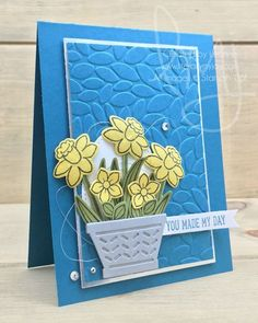 Daffodils Make My Day | Stampin\' Up! | Basket Bunch #literallymyjoy #daffodils #flowers #basket #spring #petals #colorinspiration #mademyday #2017OccasionsCatalog