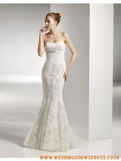 Gorgeous Over Lace Wedding Dress Trumpet Silhouette