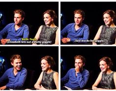 AAAH! Iain and Elizabeth went FitzSimmons for a minute! And then back to being themselves. :P