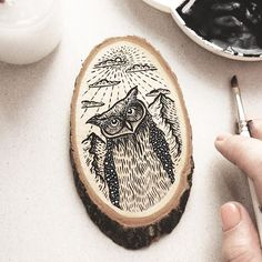 Well, these last few days my desk is overtaken with wood slices. I am so excited…