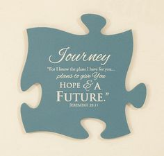 PUZZLE PIECES JOURNEY - JEREMIAH 29:11  Connect Different Wall Mount Puzzle Pieces Including Photo Frames Available on American Christian Gift www.AmericanChristianGift.com