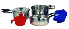 Texsport Stainless Metal Backpackers Prepare dinner Set.  Look into even more by clicking the picture link Check more at  http://www.buyoutdoorgadgets.com/texsport-stainless-steel-backpackers-cook-set/?ef=230616141400