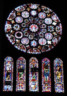 stained glass windows Chartres
