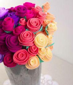 15 Contoh Kerajinan Tangan Bunga Dari Kain Flanel | KerajinanTanganKita.com
