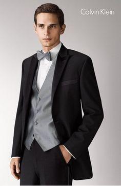 Grey Vest With Black Suit Dress Yy