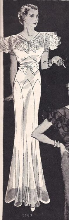 1933 Butterick 5183 evening gown pattern - 1933 was apparently a great year for Butterick evening gown patterns - so lovely!